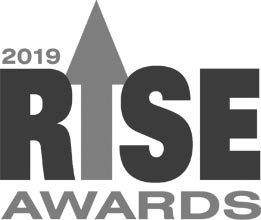 Logo of the 2019 Rise Awards since WiFiRanger was a finalist for product of the year with the Sky4.