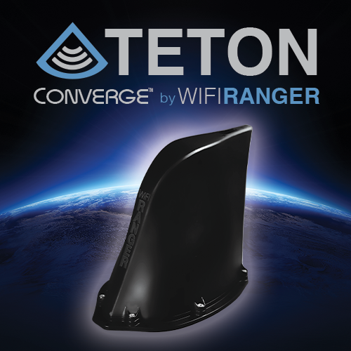 Graphic of the WiFiRanger Teton router of the Converge product line.